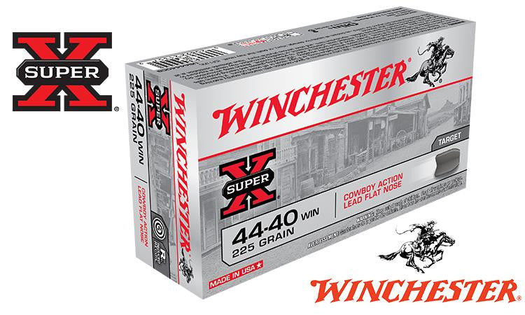 <b>(Store Pickup Only)</b><br> Winchester Super X, 44-40 Winchester Cowboy Action Lead Flat Nose, 225 Grain Box of 50