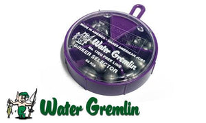 Water Gremlin Egg Sinkers, Sinker Selector, 55 Pieces, Mixed Sizes #17EG