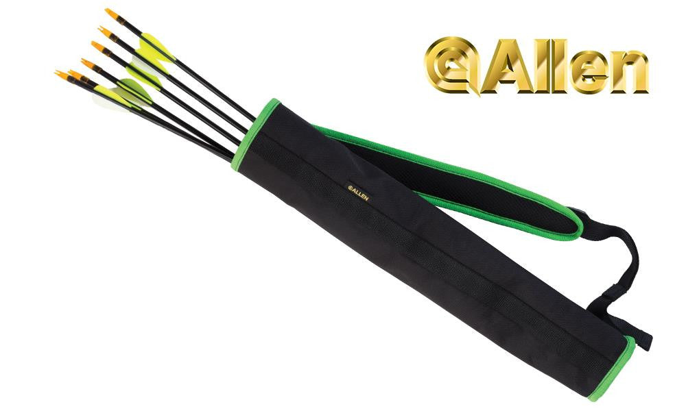 "Allen Compact Back Quiver, 19"" Black & Green #7036"