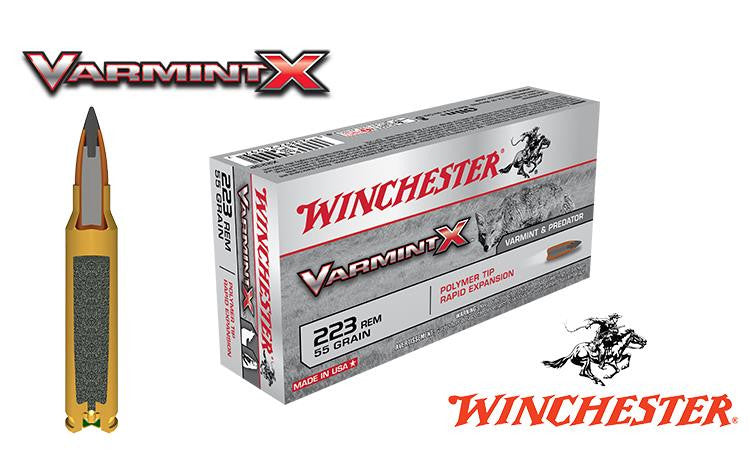 <b>(Store Pickup Only)</b><br>Winchester Varmint X, .223, 55 grain, Box of 20 #X223P