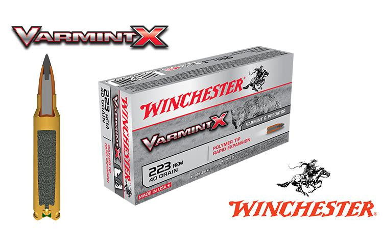 Winchester Varmint X, .223, 40 grain, Box of 20 #X223P1