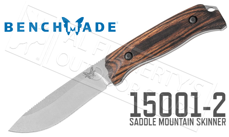 Benchmade 15001-2 Saddle Mountain Skinner Fixed Knife with Dymondwood Handle & Leather Sheath