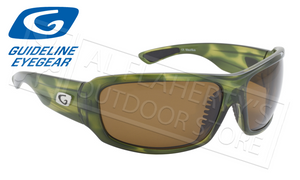 Guideline Eyegear Alpine Polarized Glasses, Crystal Green Tortoise Frame with Brown Lens #96100651