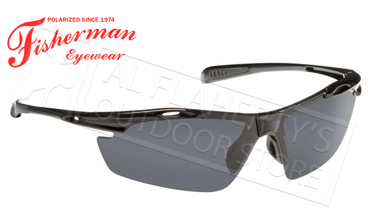 Fisherman Eyewear Ray Polarized Glasses, Matte Black Frame with Gray Lens #50250001