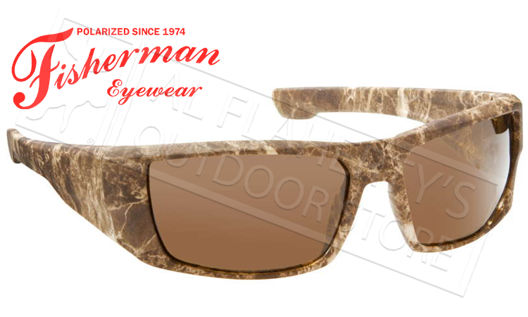 Fisherman Eyewear Bayou Polarized Sunglasses, Brown Terrain with Brown Lens #50280102