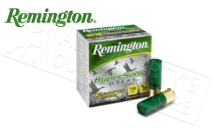 "12 Gauge - Remington Hypersonic Steel, 3"" 1-1/4 oz. Box of 25 #HSS12M1"