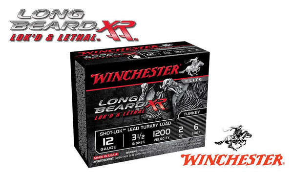 "<b>(Store Pickup Only)</b><br>12 Gauge, Winchester Elite Long Beard XL Turkey Shells, 3-1/2"", 2 oz., #6 Shot, 1200 fps, Box of 10 #STLB12L6"
