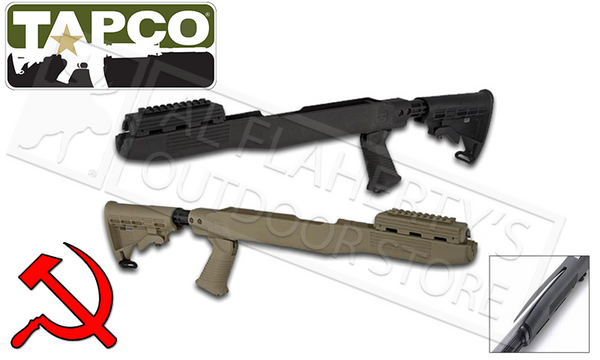 TAPCO Intrafuse SKS Stock System with Bayonette Cut-Out, Dark Earty #STK66166DE