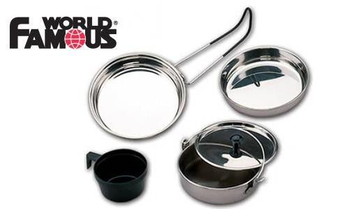 World Famous Stainless Steel Backpackers Cookset #741