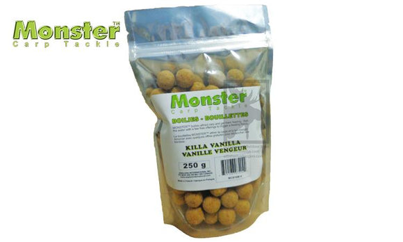 Monster Boilies, 16mm, Killa Vanilla, 250 grams #MCB16M-V