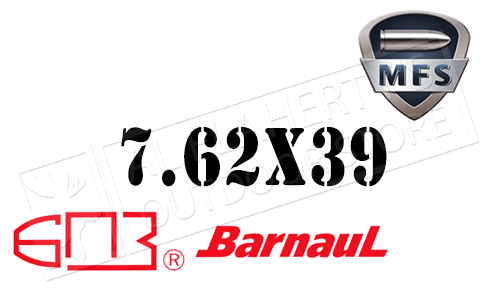 Barnaul MFS 7.62x39 FMJ 123 Grain Case of 500