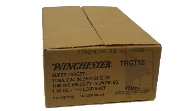 "(Store Pickup Only) Winchester 12 Gauge Super-Target, #8, 2-3/4"", Case of 250 #TRGT128"