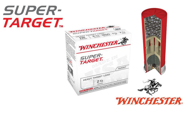 "<b>(Store Pickup Only)</b><BR>12 Gauge, Winchester Super-Target, #7.5, 2-3/4"", 1 oz., Case of 250 #TRGTL127-CASE"
