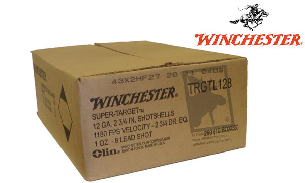 "<b>(Store Pickup Only)</b><br> 12 Gauge, Winchester Super-Target, #8, 2-3/4"", 1 oz., Case of 250 #TRGTL128 - Case"