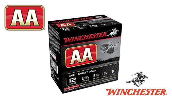 "<b>(Store Pickup Only)</b><br>12 Gauge, Winchester AA, #9, 2-3/4"", 1-1/8 oz., Case of 250 #AA129 - Case"