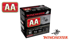 "<b>(Store Pickup Only)</b><br>12 Gauge, Winchester AA Xtra-Lite Target Load, #7.5, 2-3/4"", 1 oz., Case of 250 #AAL127 - Case"