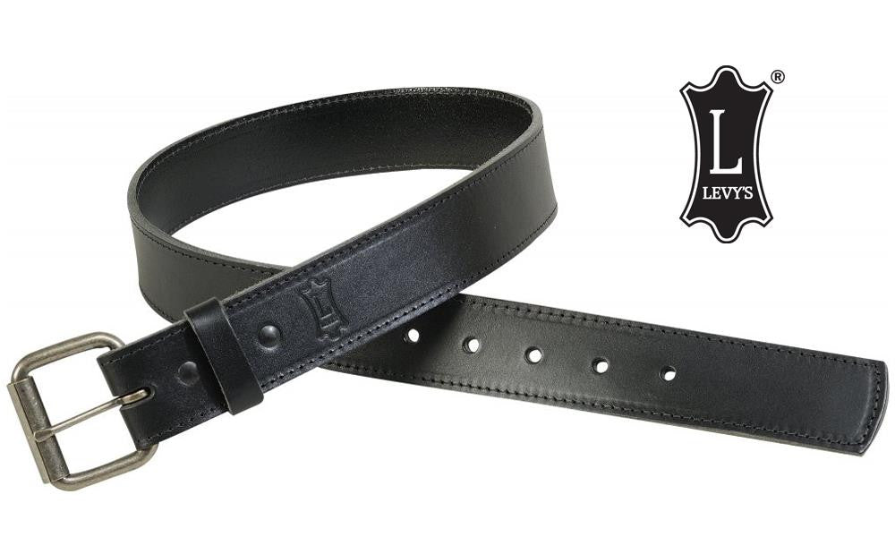 Levy's Leathers Ltd. Black Leather Belt, Large and Extra-Large, Black #B1