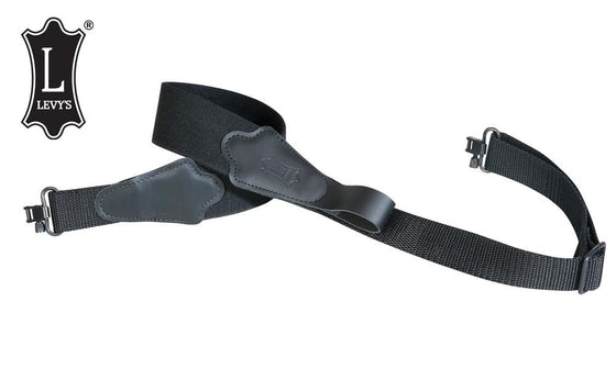 "Levy's Leathers Composite Elastic Rifle Web Sling, 31""-38"" Black #S8ET"
