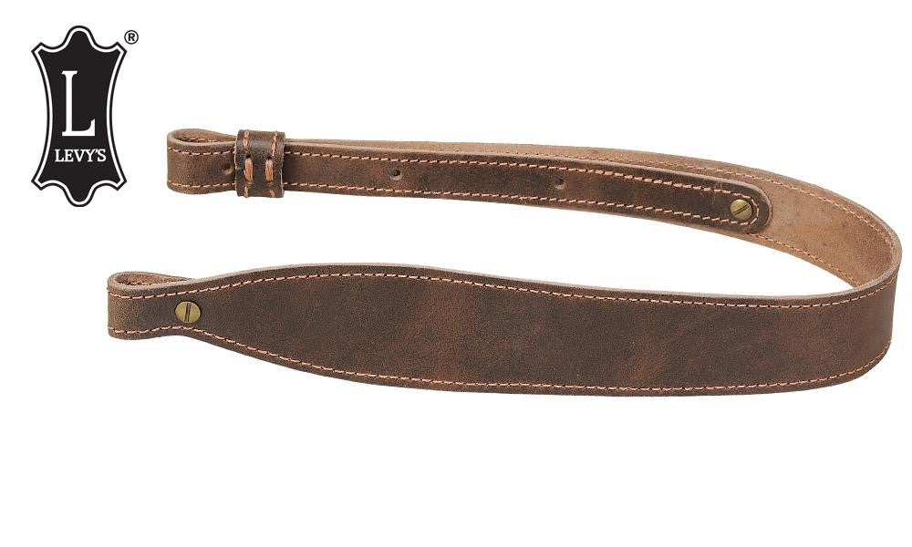 "Levy's Leathers Distressed Leather Cobra Rifle Sling, 28"" - 37"" Dark Brown #SS21D-DBR"