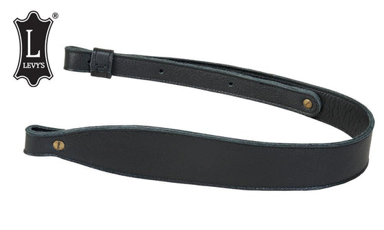 "Levy's Leathers Three-Ply Leather Cobra Rifle Sling, 29"" - 37"" Black #SNG20SS-BL"