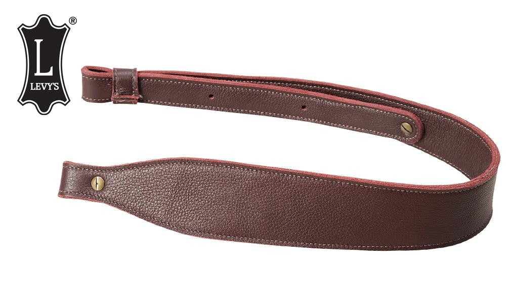 "Levy's Leathers Three-Ply Leather Cobra Rifle Sling, 29"" - 37"" Burgundy #SNG20SS-BRG"