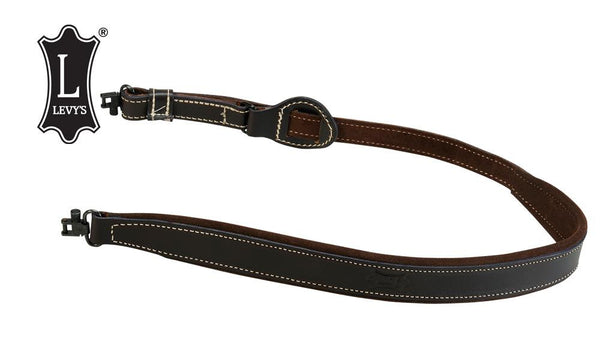"Levy's Leathers Suede Backed Easy-Slide Rifle Sling, 32""-39"", Dark Brown #SD96-2-DBR"