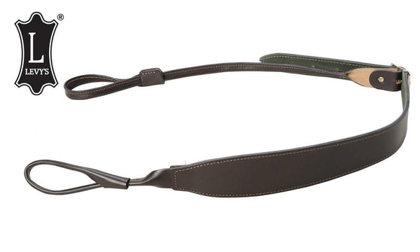 "Levy's Leathers Shotgun Loop Cobra Sling, 40"" - 45"" Dark Brown #SS95-DBR"