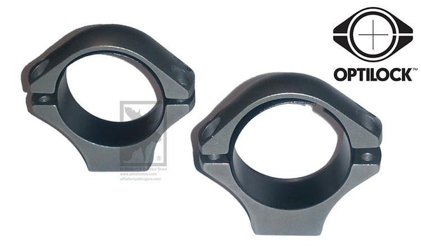 Optilock Scope Rings, 30mm Medium Height, Stainless Steel #S130R964