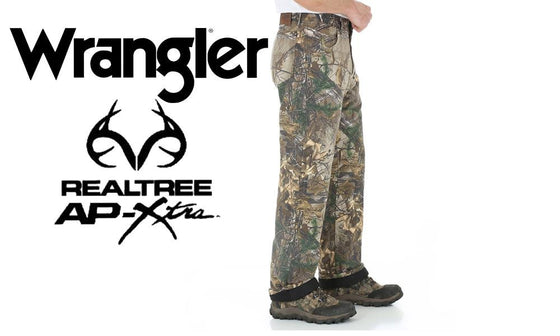 Wrangler PG200 ProGear Camo Jeans with Thermal Lining, Realtree AP Xtra Camouflage #PG200AX