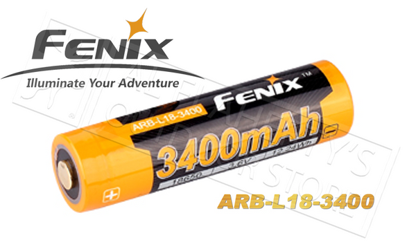 Fenix 3400mAh Battery, Li-Ion Rechargeable #ARB-L18-3400