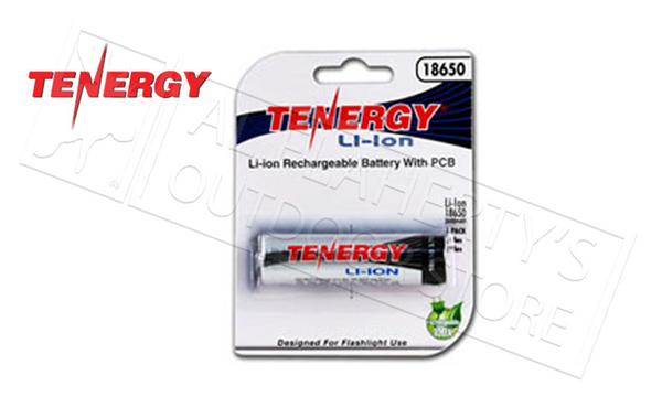 Tenergy 2600mAh Battery, Li-Ion 18650 Rechargeable #30049