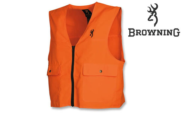 Browning Safety Vest Blaze Orange, Large to 2XL #30510001