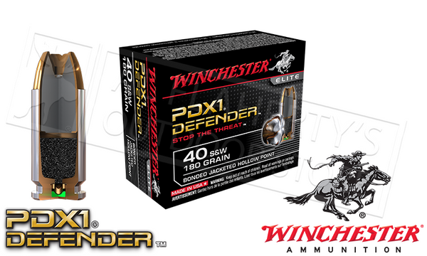 <b>(Store Pickup Only)</b><br>Winchester .40S&W, PDX1 Defender, 180 Grain Bonded Hollow Point, 20 Round Box #S40SWPDB1