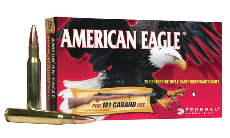 American Eagle 30-06 SPRG M1 Garand, FMJ 150 Grain Box of 20 #AE3006M1