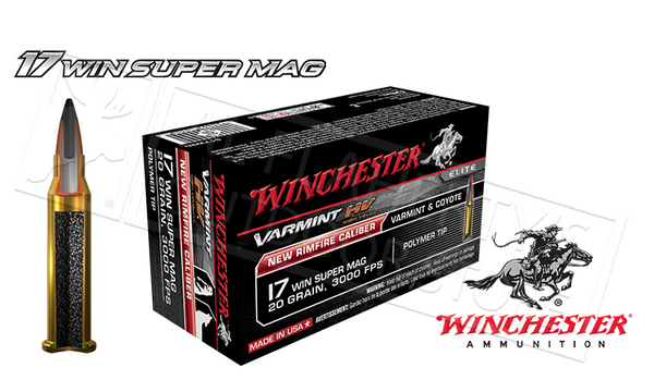 Winchester 17WSM Varmint HV, 20 Grain Box of 50 #S17W20
