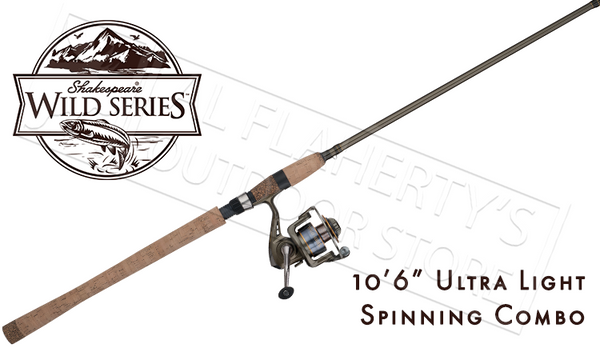 "Shakespeare Wild Series SalmonSteelhead Spinning Combo, 10'6"" Ultra Light #WILDSS1062UL35"