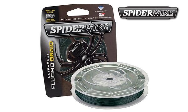Spiderwire Ultracast Fluoro-Braid Fishing Line, Moss Green, Filler Spools #SCFB