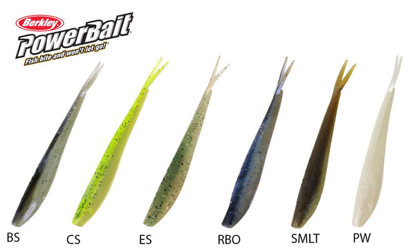 Berkley PowerBait Minnows, Size 4, Various Colours #PBBMW4