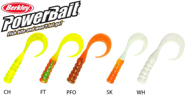 "Berkley PowerBait Ribbontail Grubs, 3"", Pack of 15 #PBHRG3"