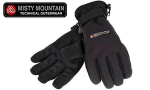 Misty Mountain Softshell Thinsulate Gloves, Black Large #3980