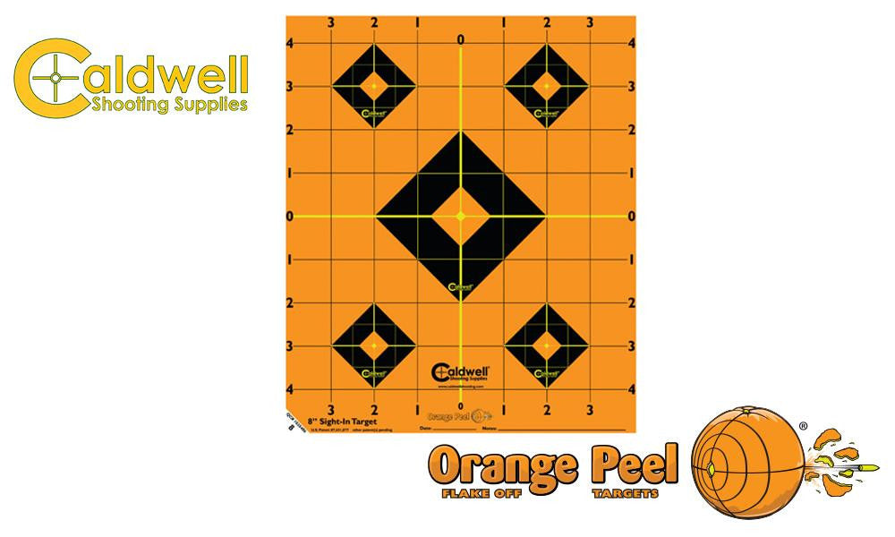 "Caldwell Orange Peel Sight-In Target, 8"" Pack of 5 #522357"