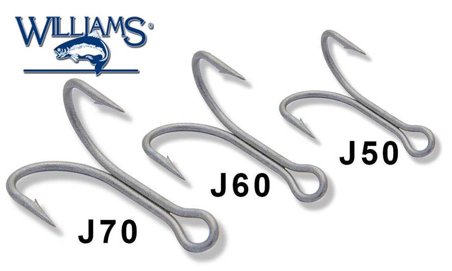 Williams Ice Jig Replacement Hooks - Limerick Style, S/M/L #C-RHJ