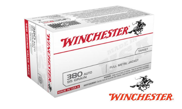 <B>(Store Pickup Only)</b><BR>Winchester 380 Auto Value Pack, 95 Grain, Box of 100 #USA380VP