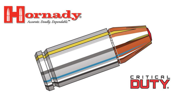 <b>(Store Pickup only)</b><br>Hornady 9mm, Critical Duty, 135 Grain FlexLock, 25 Round Box #90236
