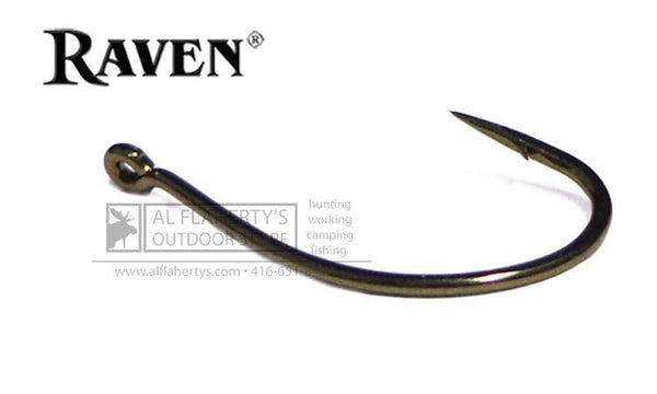 Raven Sedge Hooks, Bronze Finish, Sizes 16 to 8 #RVSG