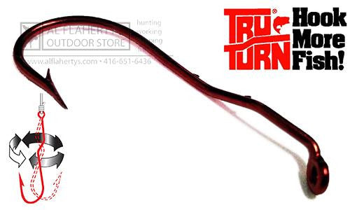 Tru Turn Baitholder Hooks, Blood Red, Sizes 10 to 1/0 #303ZS