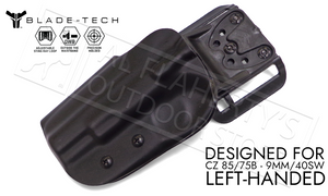 Blade-Tech Original Holster for CZ 85 and 75B, Left-Handed D/OS with ASR Mount #HOLX000887015302