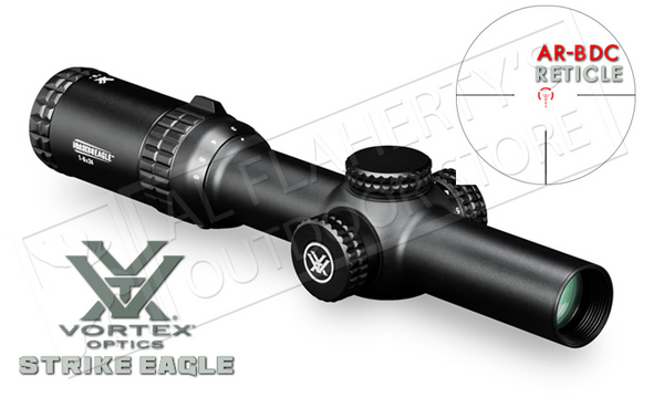 Vortex Strike Eagle Riflescope, 1-6x24mm with AR-BDC Reticle #SE-1624-1