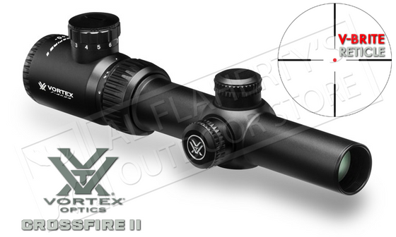 Vortex Crossfire II Riflescope, 1-4x24mm with V-Brite MOA Reticle #CF2-31037