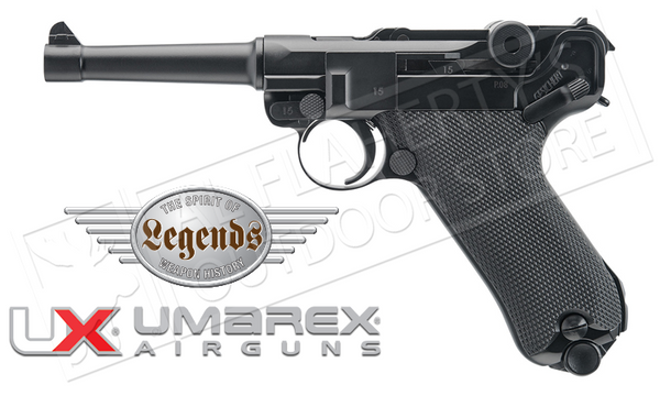 Umarex #2251803 Air Pistol Legends Luger P.08 .177 BB with Blowback
